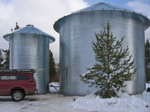 Silos talled ready for interior framing