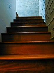 Lower level stairs Brazilian Cherry