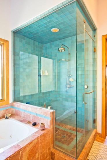 Master shower & tub