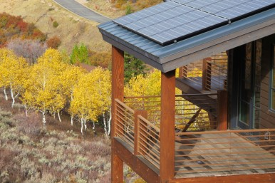 Solar Panels and fall colors